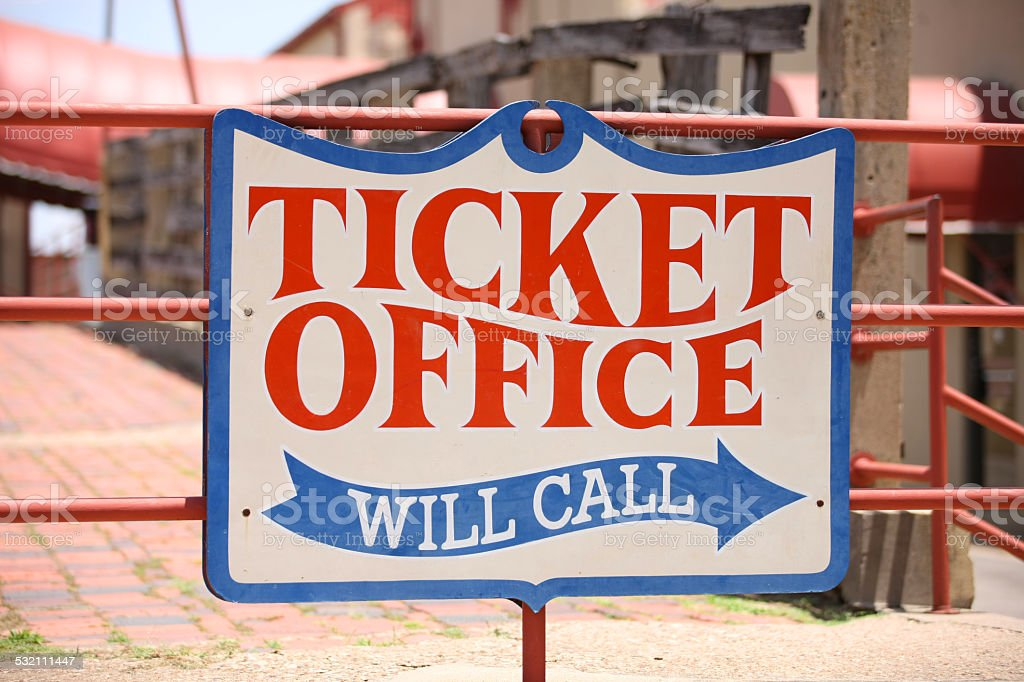 Ticket Office - Will Call stock photo
