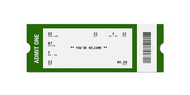 ticket sampler : blank event ticket - ticket stock photos and pictures