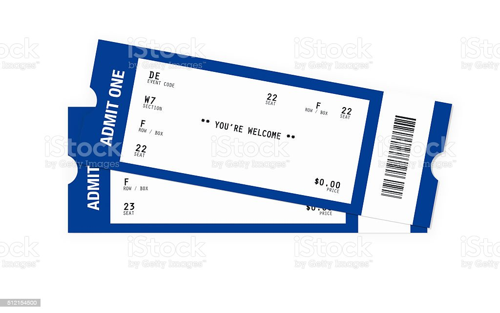 Ticket Sampler : Blank Event Tickets stock photo
