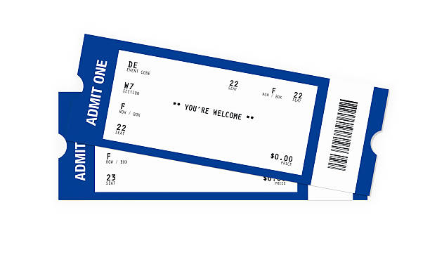 ticket sampler : blank event tickets - ticket stock photos and pictures