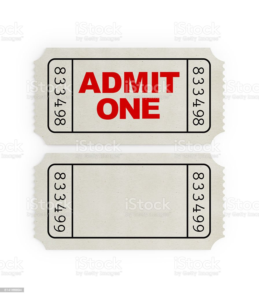ticket sampler white blank event ticket stock photo more pictures