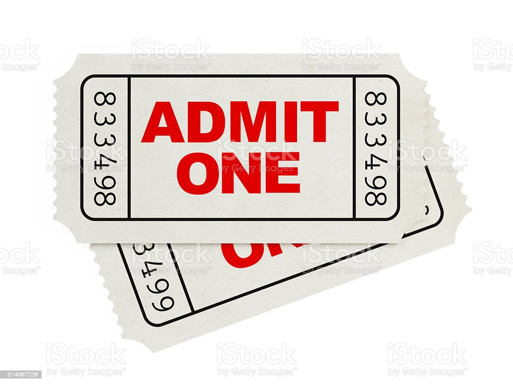 ticket sampler white blank event tickets stock photo more pictures