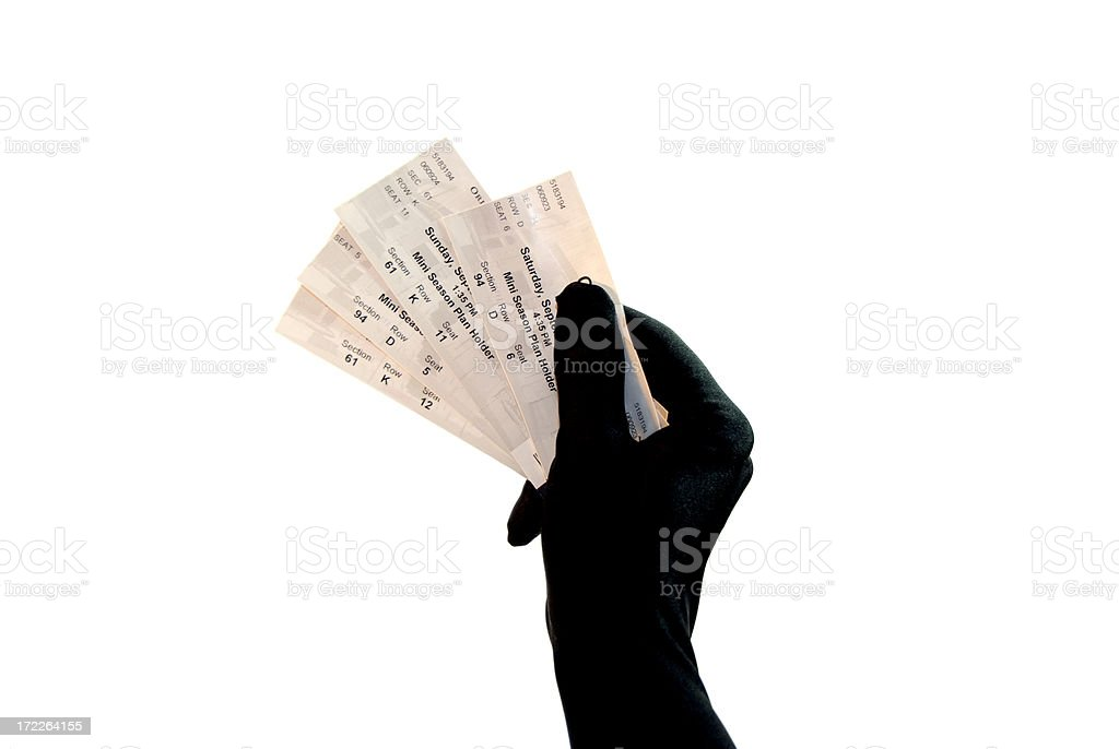 Ticket Series  - Formal Glove stock photo