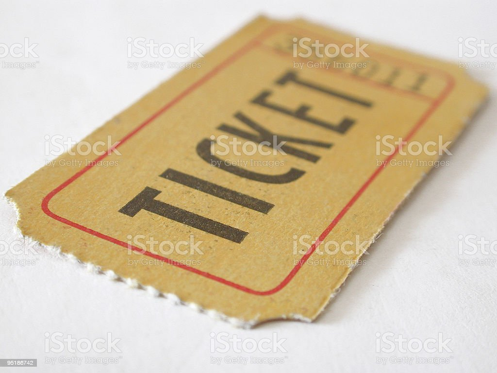 ticket stub stock photo