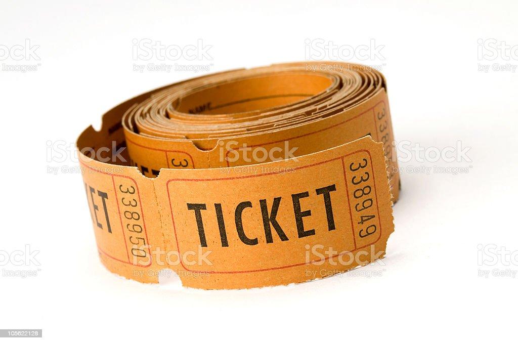 ticket stubs stock photo