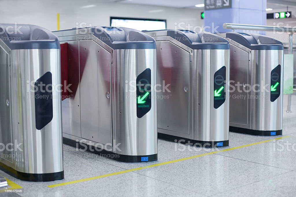 ticket validation machines royalty-free stock photo