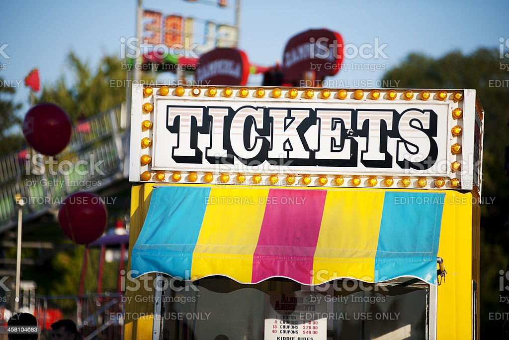 Ticket Vendor Kiosk stock photo