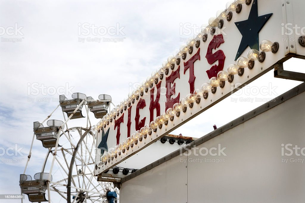 Tickets at the Fair- Southern USA stock photo