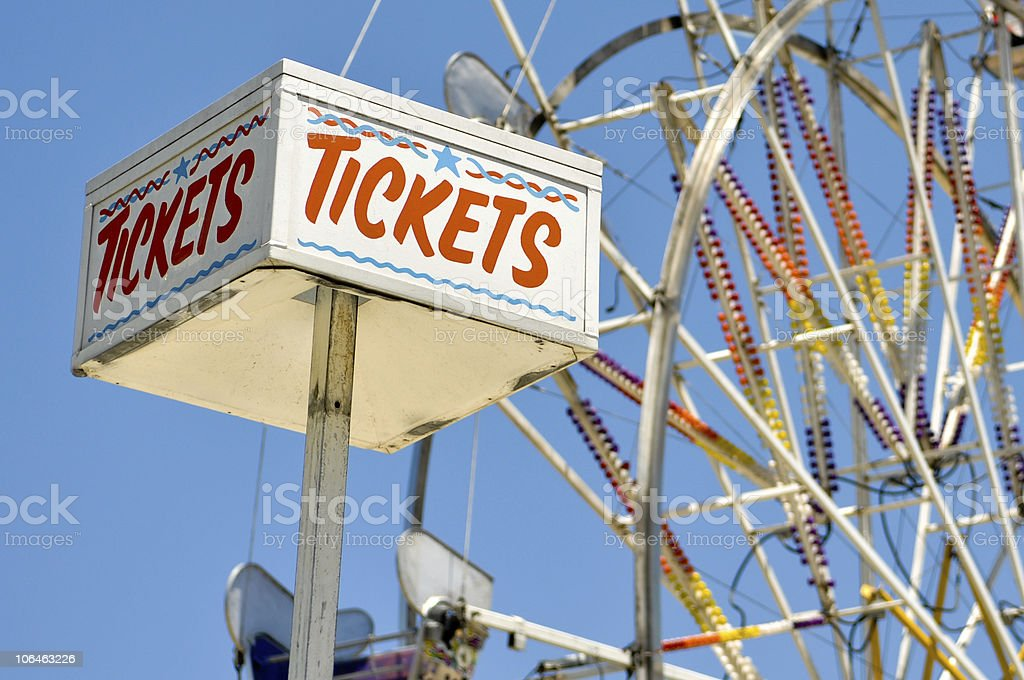 Tickets for Sale at the Carnival stock photo