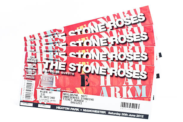 Tickets for The Stone Roses stock photo