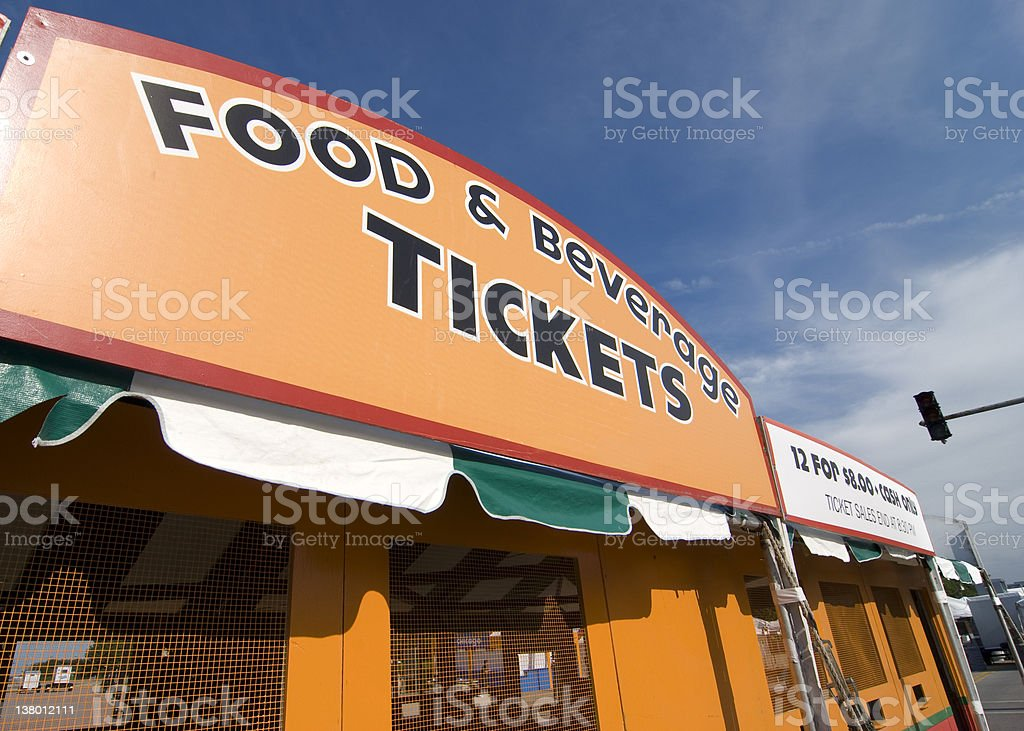 Tickets for the Taste of Chicago stock photo