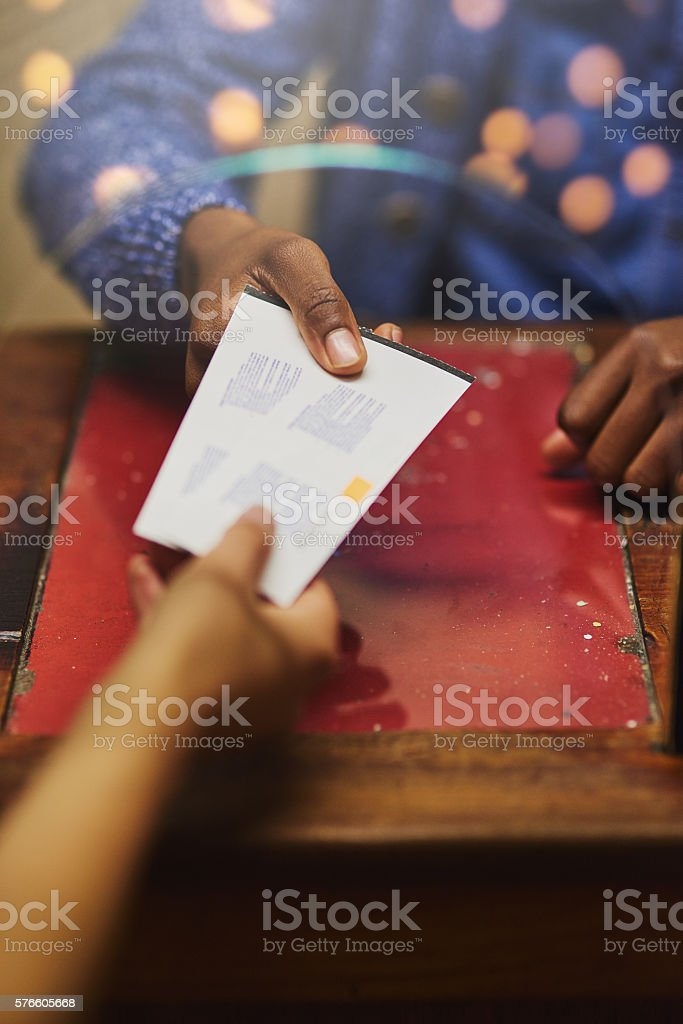 Tickets for two, please stock photo