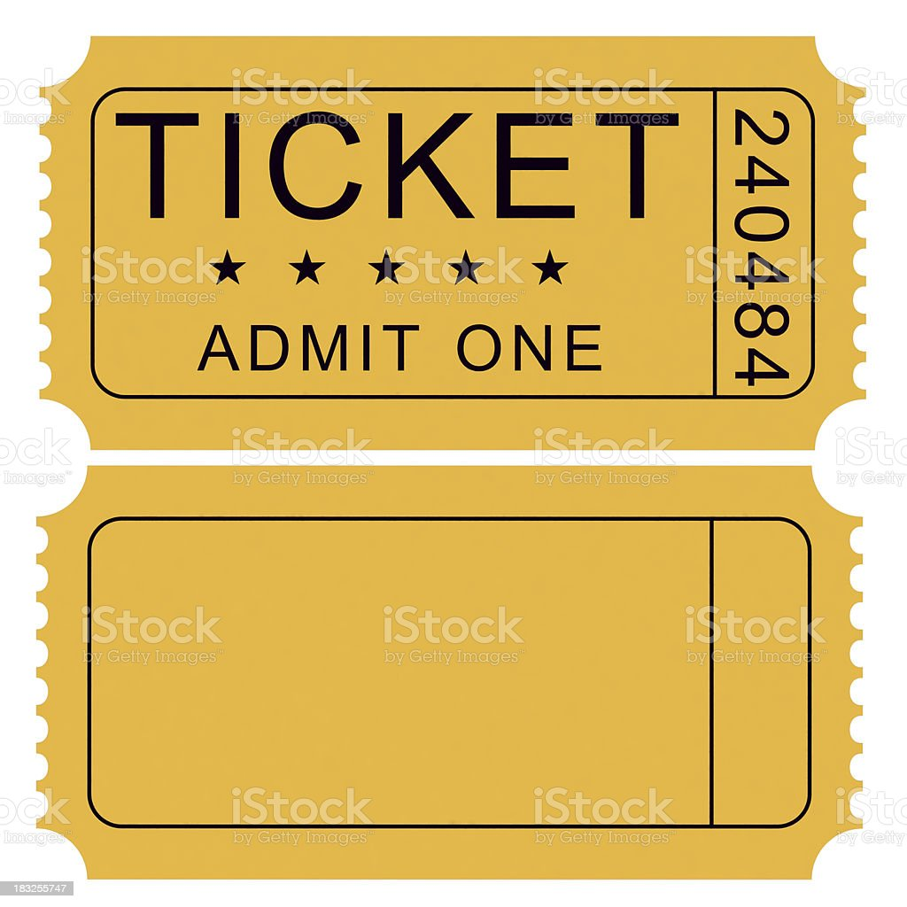 Tickets stock photo