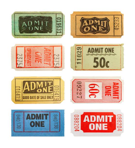 tickets - biglietto del cinema foto e immagini stock