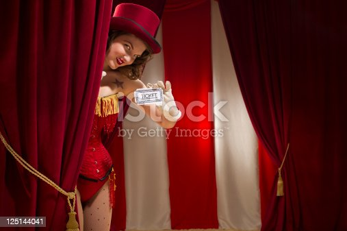 burlesque ringmaster holds your ticket to the circus