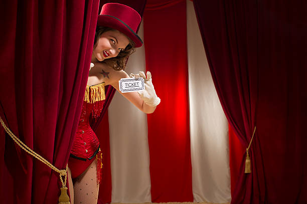 tickets please - burlesque stock photos and pictures