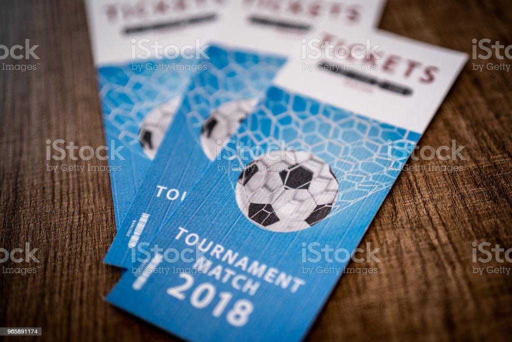 Tickets toernooi Match 2018 - Royalty-free 2018 Stockfoto