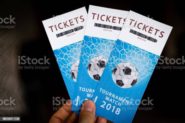 Tickets Tournament Match 2018 Stock Photo - Download Image Now