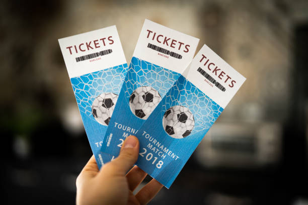 tickets tournament match 2018 - ticket stock photos and pictures