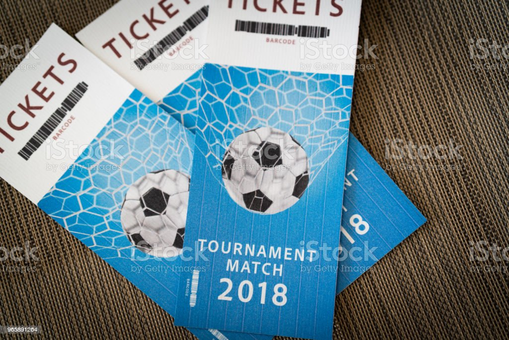 Tickets Tournament Match 2018 tickets 2018 2018 Stock Photo