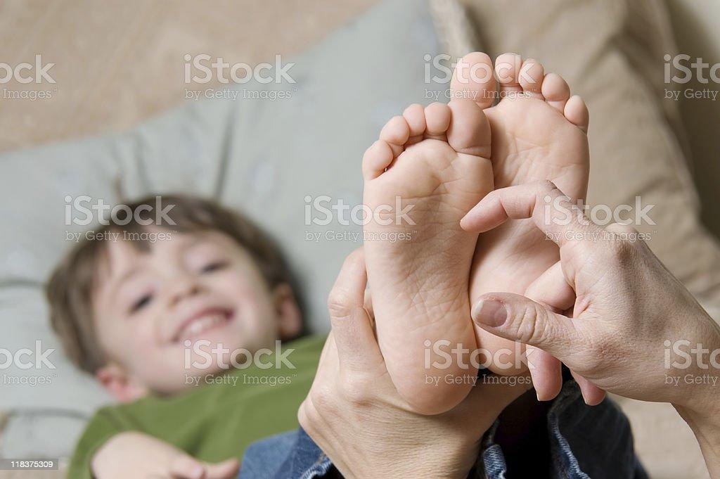 Ticking Feet stock photo