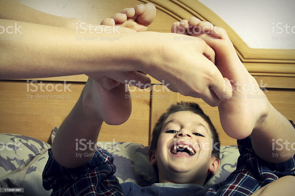 Bare foot tickle