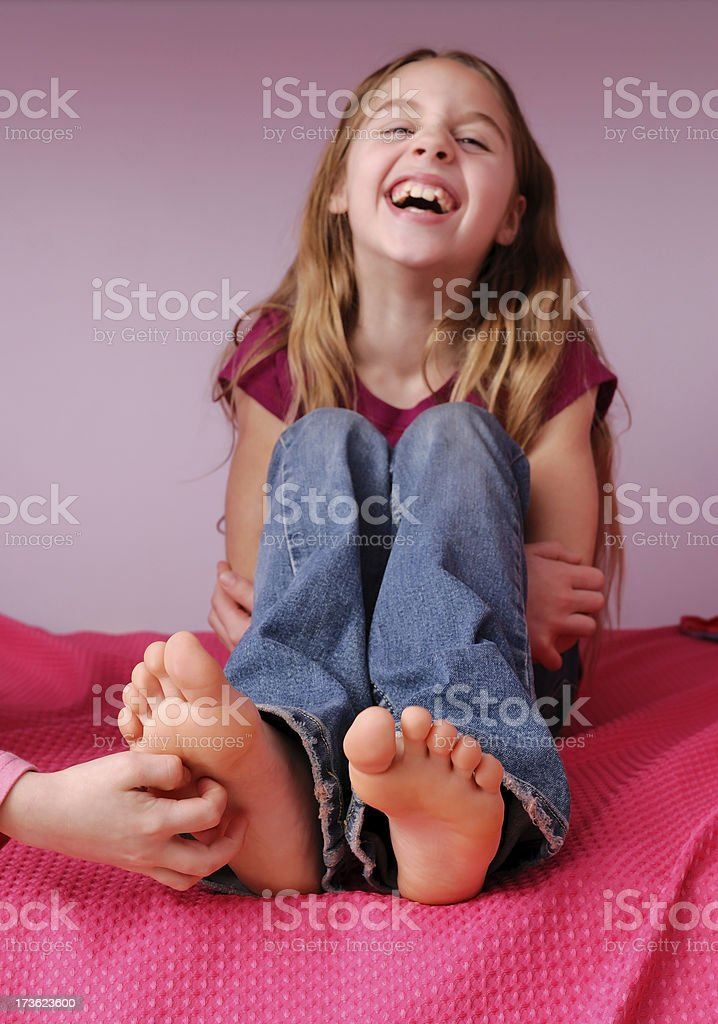 Tickled stock photo