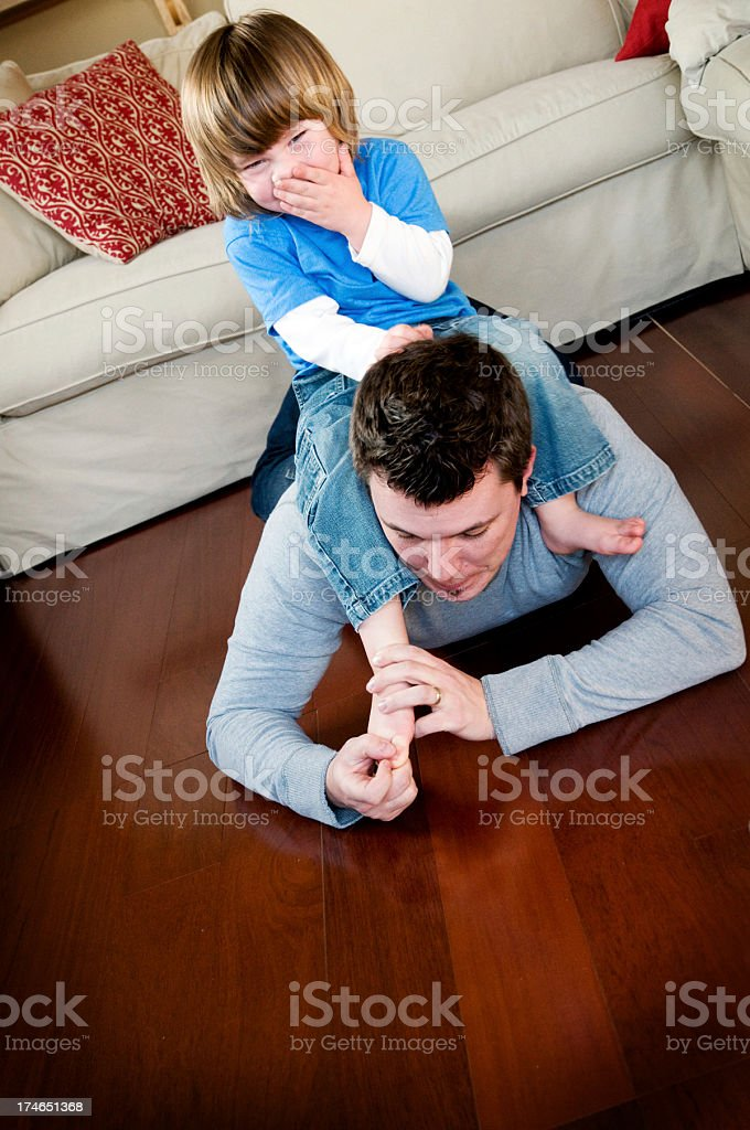 Tickling stock photo