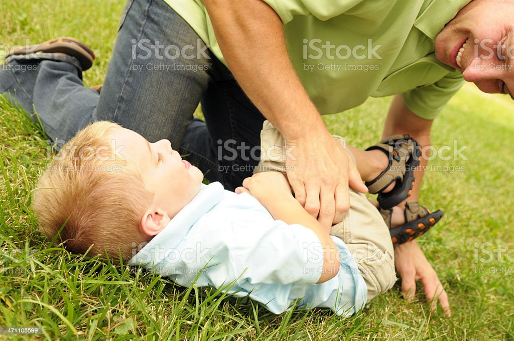 Tickling Time royalty-free stock photo