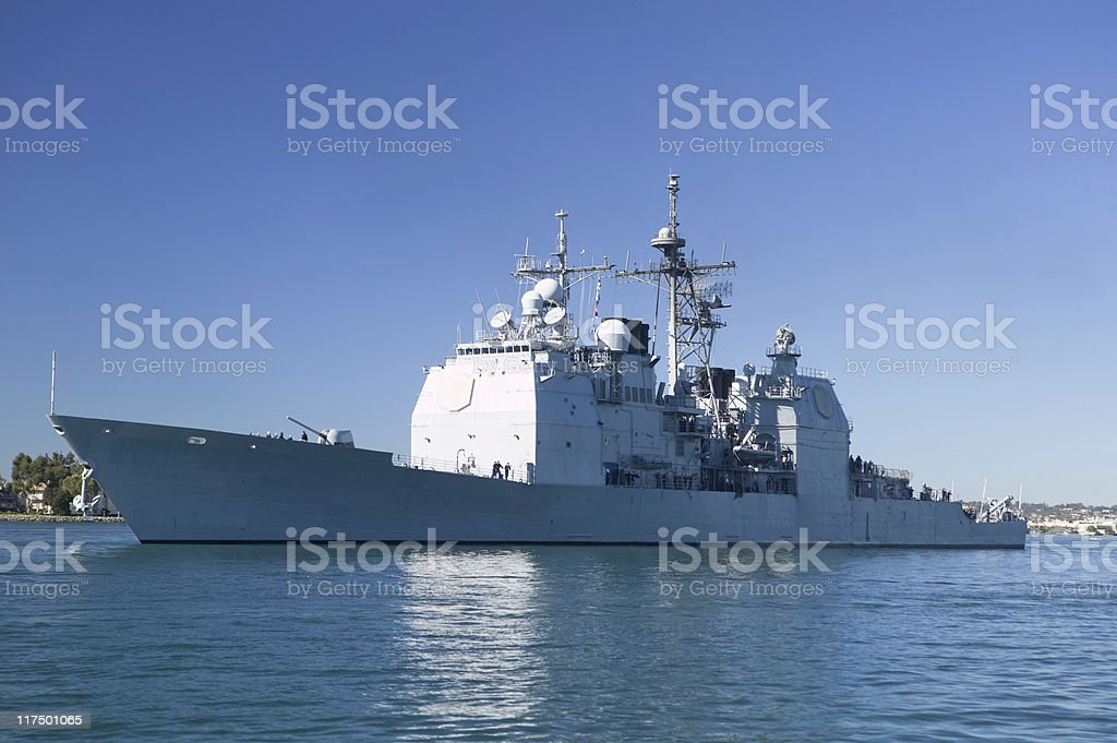 Ticonderoga class cruiser stock photo
