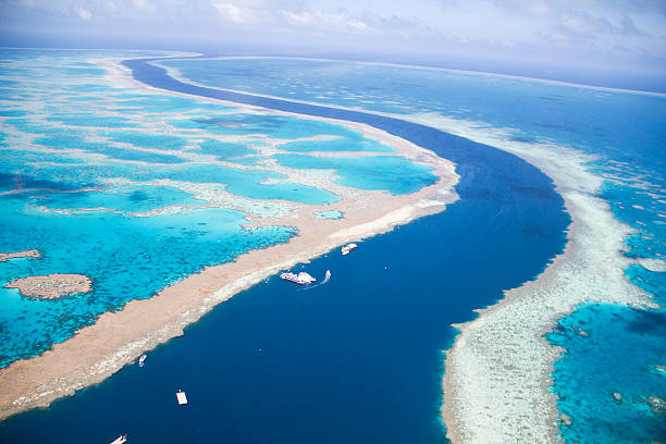 Tidal Channel through the Great Barrier Reef – Foto