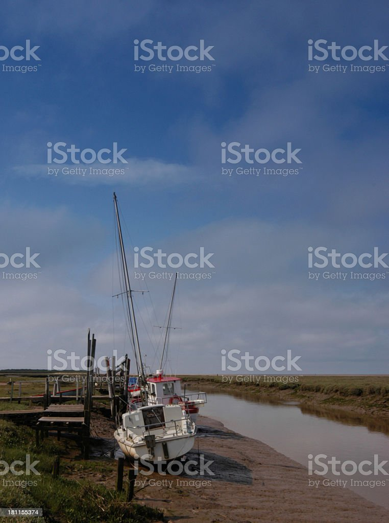 Tidal creek royalty-free stock photo