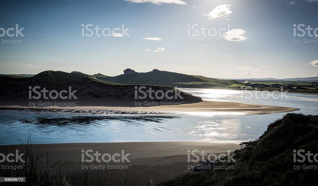 Tidal inlet stock photo
