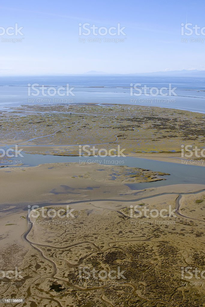 Tidal Mud Flats royalty-free stock photo