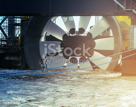 Tidal power turbine test platform in Halifax harbour.
