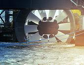 Tidal power turbine test platform in Halifax harbour.