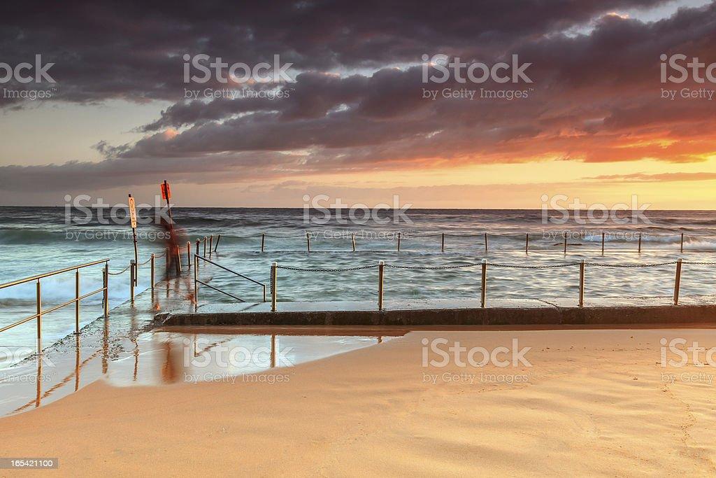 Tidal rock pool royalty-free stock photo