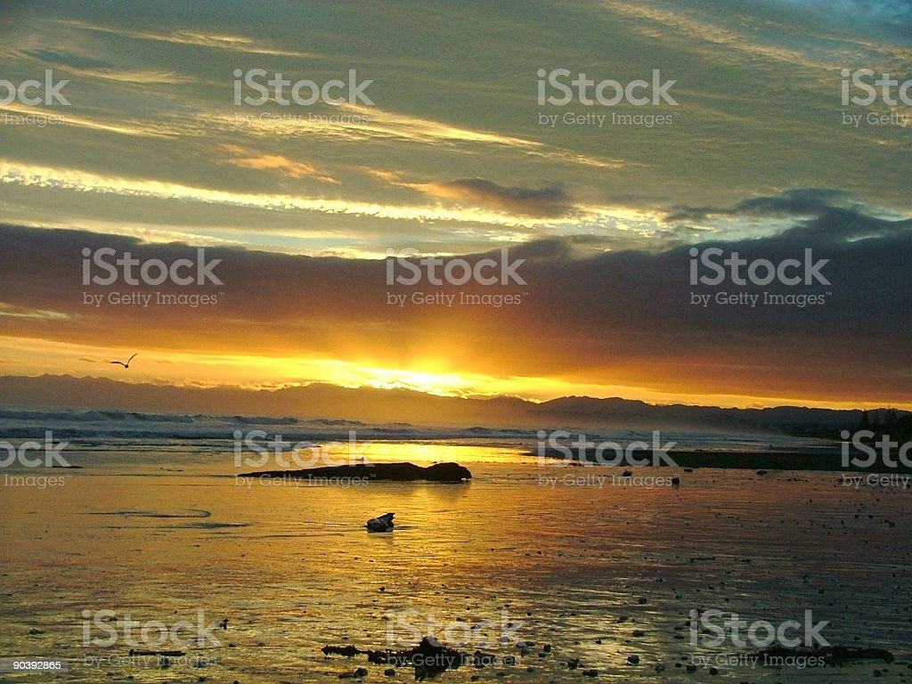 Tidal Sunrise royalty-free stock photo
