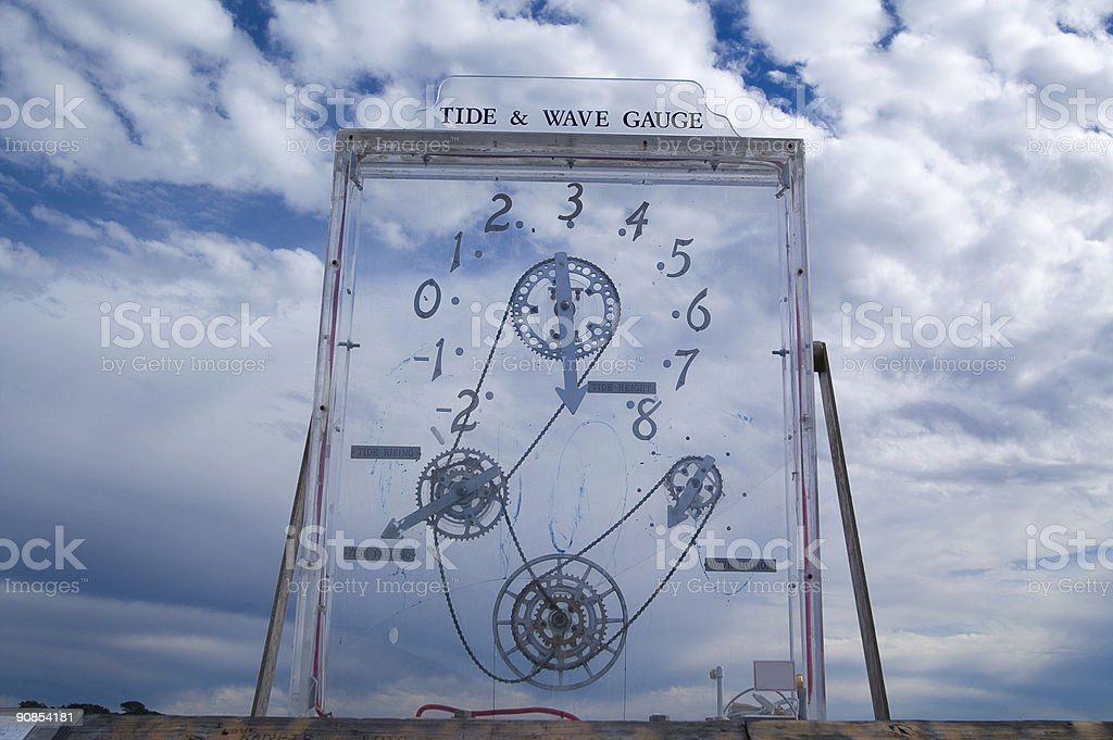 Tide and Wave Gauge royalty-free stock photo