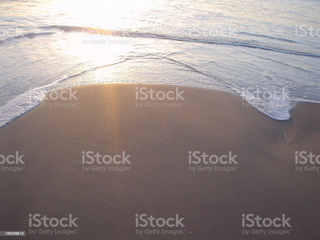 Tide Coming royalty-free stock photo