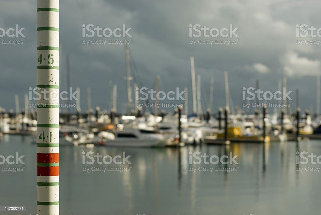 tide gauge royalty-free stock photo