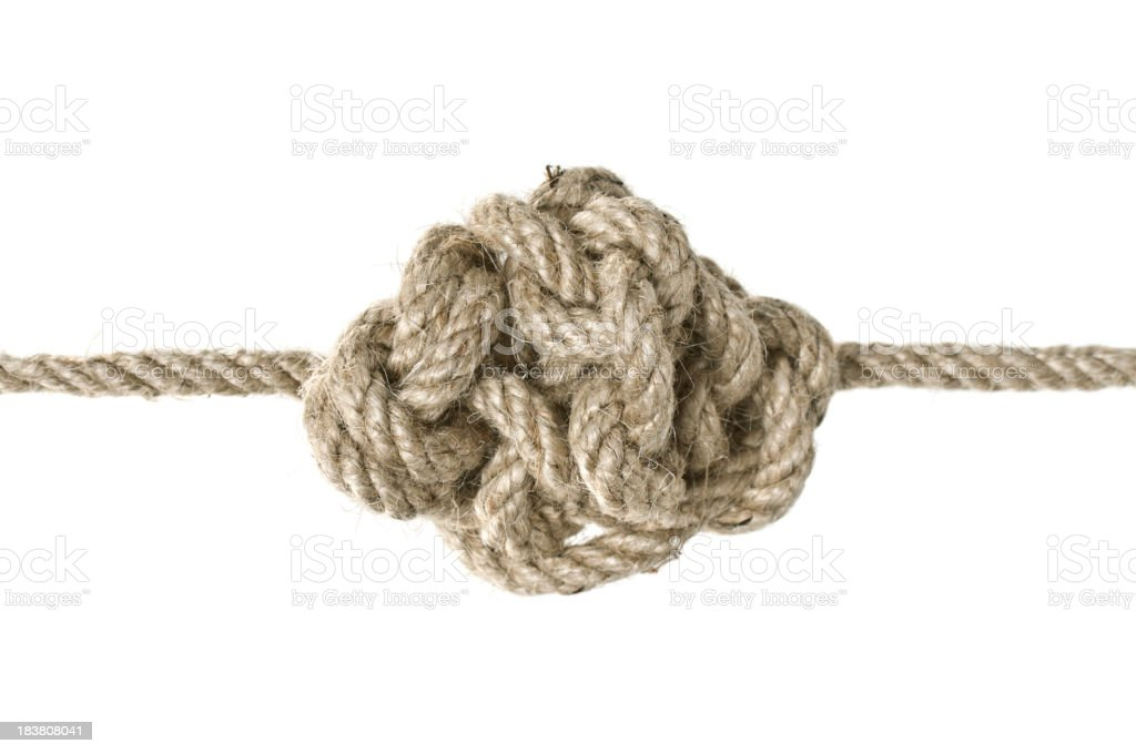 Tide Knot royalty-free stock photo