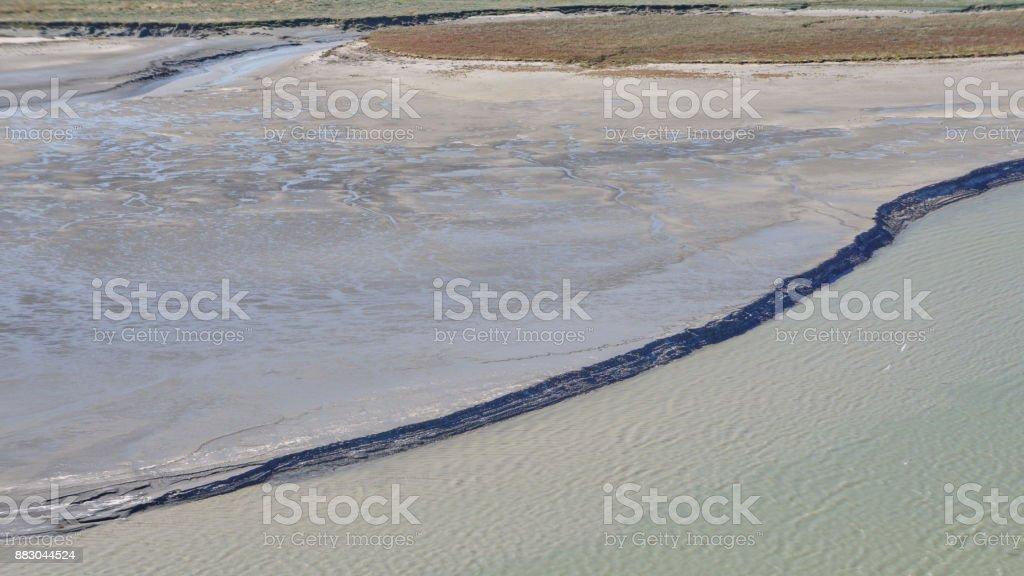 Tideal Estuary near Mont Saint-Michel royalty-free stock photo