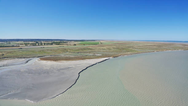 Tideal Estuary near Mont Saint-Michel