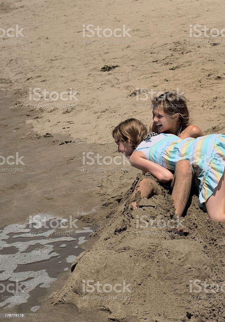 tide's coming royalty-free stock photo