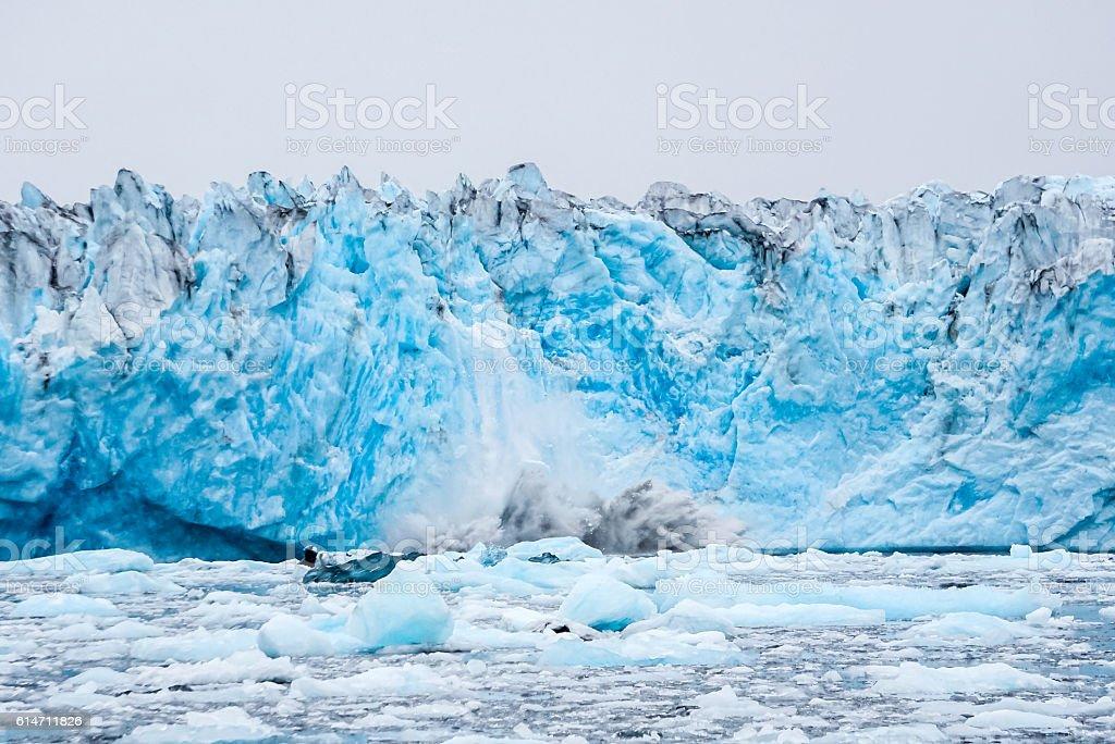 Tidewater Glacier stock photo