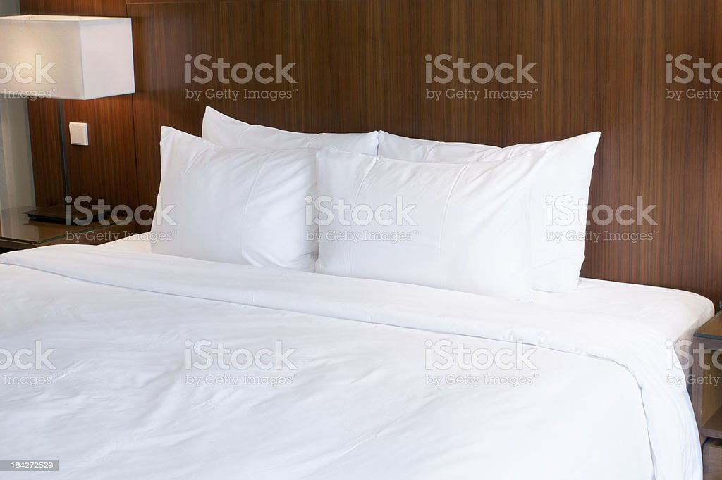 Tidy bed royalty-free stock photo