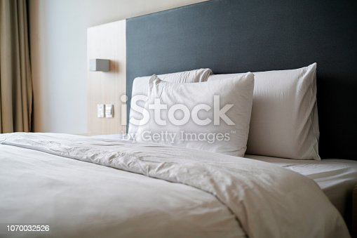 tidy bedding of bedroom