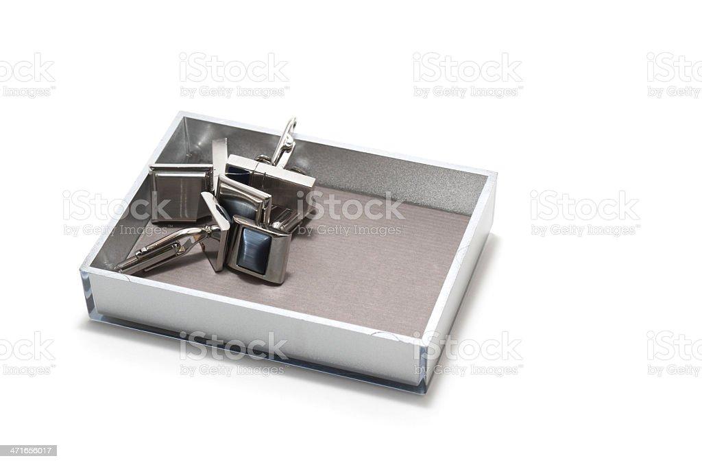 Tidy sundries tray vide-poche with cufflinks inside royalty-free stock photo