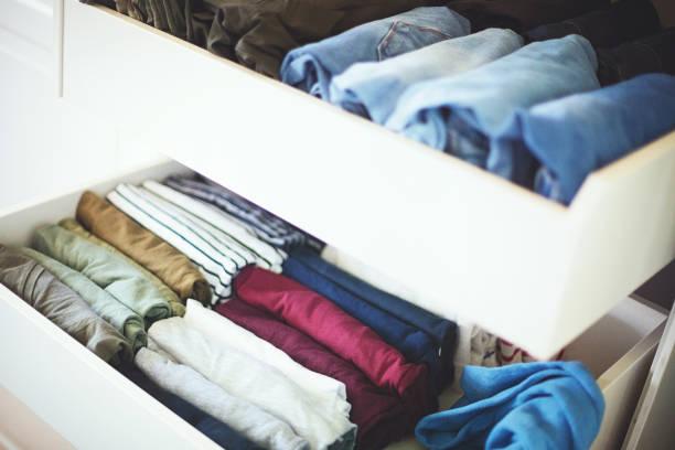 Tidy wardrobe stock photo